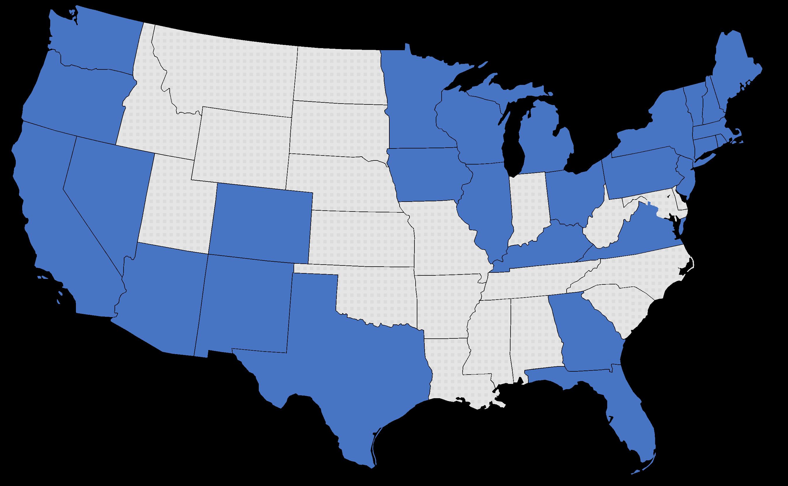 map where Econergy works
